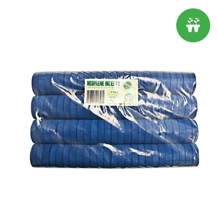 2″ Neoprene Inserts (Sold 100 per pack)- Blue