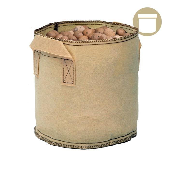 20 Gal Tan Grow1 Fabric Pot 5 Pack