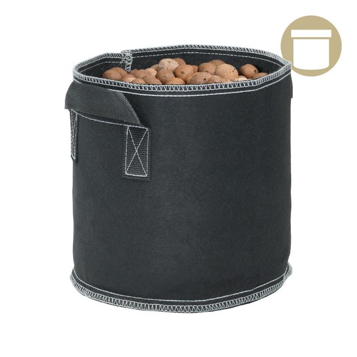 45 Gal Black Grow1 Fabric Pot 5 Pack