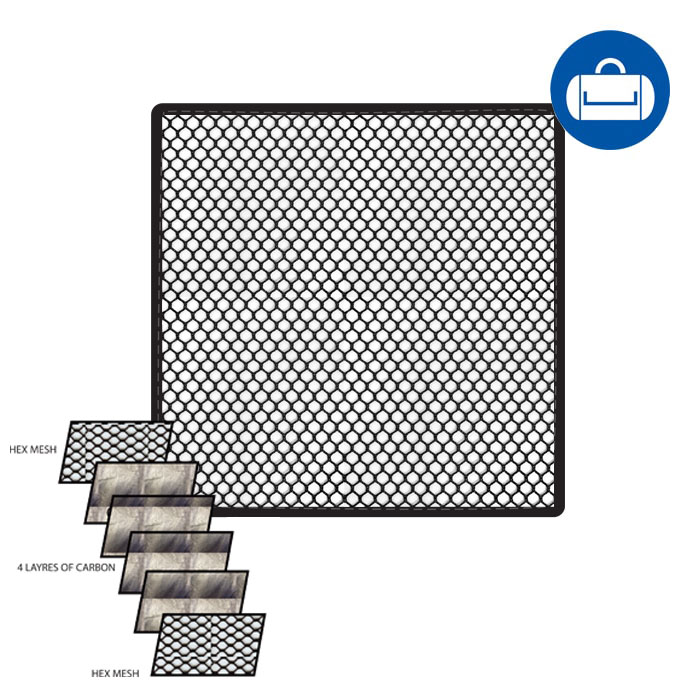 AWOL Carbon PAD Insert (12″x12″)