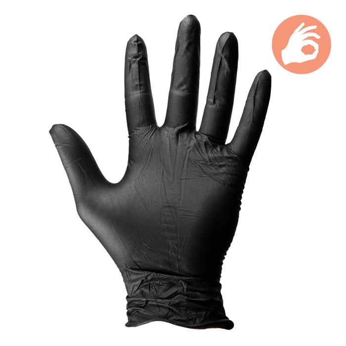 Dirt Defense 4mil Nitrile Gloves 100 pack medium